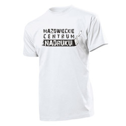 Custom t-shirt with own logo - screen printed t-shirt - white colour